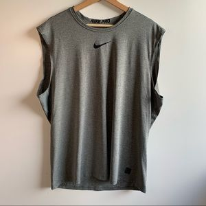 Nike Pro Dri Fit Muscle Tank Top Gray/Black XXL